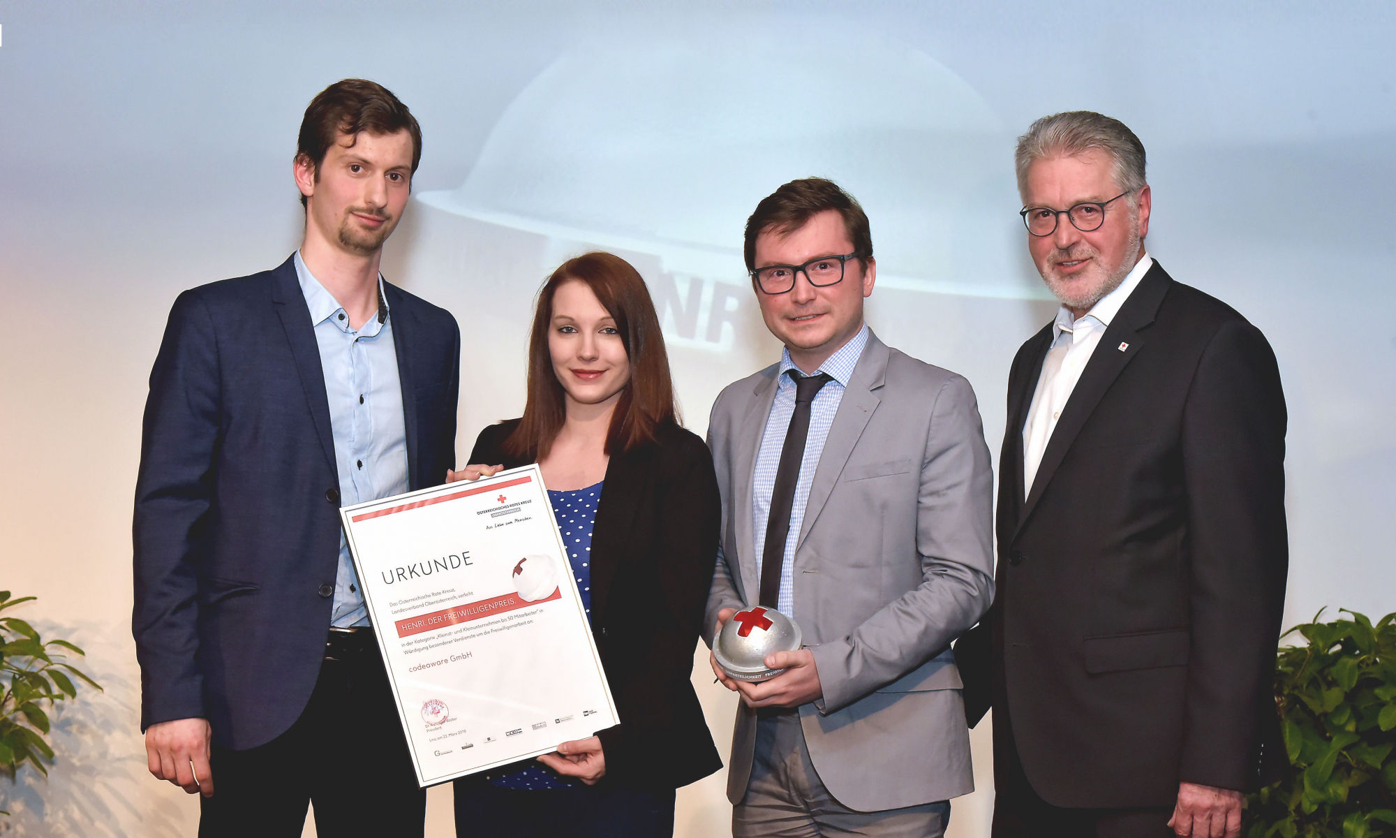 HENRI Preisverleihung codeaware GmbH