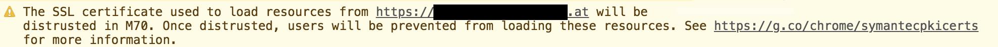 Warnung durch Chrome in der Entwicklerkonsole
